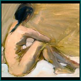 Artists nude painting